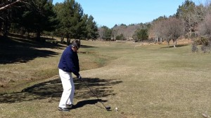 Vista campo de golf